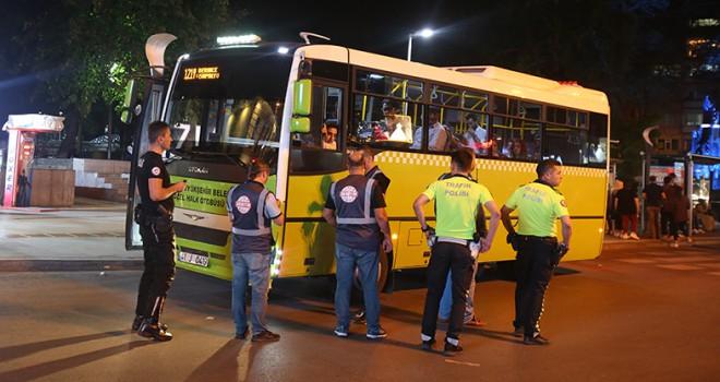 Güvenli Ulaşım İçin Halk Otobüsleri Denetleniyor